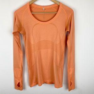 Lululemon Swiftly Tech Long Sleeve Orange Size 6